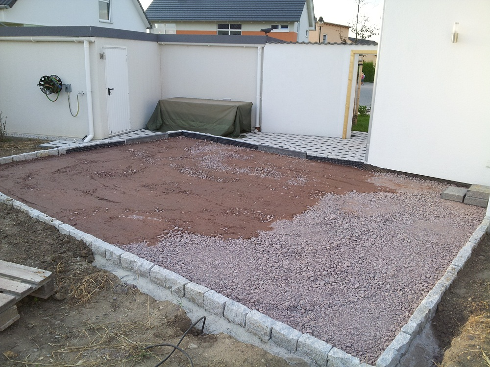 Terrasse Unterbau Schotter : Terrasse Unterbau Lampen 2017